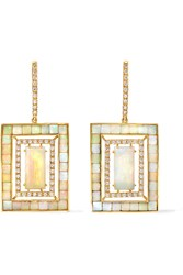 Kimberly Mcdonald 18 Karat Gold Opal And Diamond Earrings