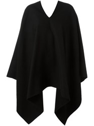 Agnona V Neck Cape Black