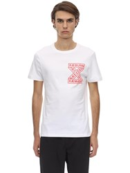 Christopher Raeburn Raeuburn Print Cotton Jersey T Shirt White