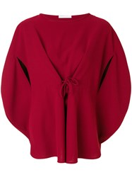 Societe Anonyme Bloody Mary Blouse Polyester Red