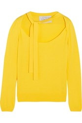 Victor Glemaud Cotton And Cashmere Blend Sweater Yellow