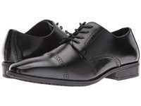 Stacy Adams Abbott Slip Resistant Cap Toe Oxford Black Men's Lace Up Cap Toe Shoes