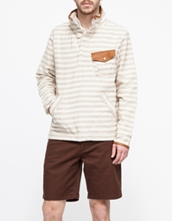 Creep By Hiroshi Awai Leather Trimmed Pop Over Natural Stripe
