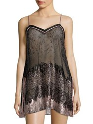 Josie Natori Haven Printed Chemise Black