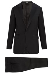 Lanvin Attitude Fit Single Breasted Wool Blend Suit Black