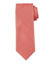 Hugo Boss Wave Pattern Silk Tie Orange