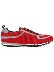 Car Shoe Lace Up Sneakers Red