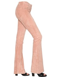 Drome Flared Stretch Suede Pants