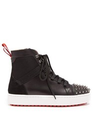 Christian Louboutin Smartic Spike High Top Leather Trainers Black