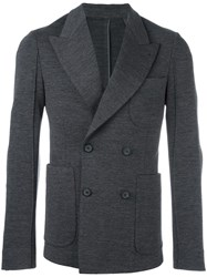 Wooyoungmi Double Breasted Blazer Grey