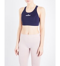 Adidas By Stella Mccartney The Pull On Jersey Sports Bra Noble Ink
