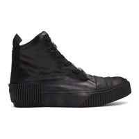 Boris Bidjan Saberi Black Leather High Top Sneakers