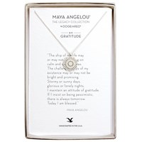 Dogeared Maya Angelou Gratitude Medallion Pendant Necklace Silver