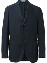 Boglioli Patch Pockets Blazer Blue