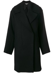 Stella Mccartney Single Breasted Cocoon Coat Black