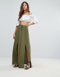 Valley Of The Dolls Tamiko Maxi Skirt Green