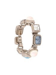 Chanel Vintage Linked Bracelet Metallic