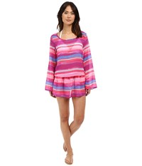 Athena Bermuda Sunrise Tunic Cover Up Multi Women's Swimwear