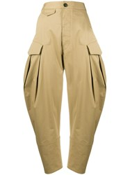 Dsquared2 High Rise Cropped Balloon Leg Trousers 60