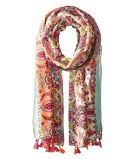 San Diego Hat Company Bss1700 Paisley Scarf With Tassels Multi Scarves