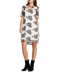 Bcbgeneration Floral Embroidered Dress Black