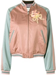 Gucci Sequin Embellished Bomber Jacket Pink And Purple