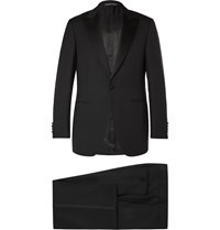 Canali Black Slim Fit Satin Trimmed Wool Tuxedo