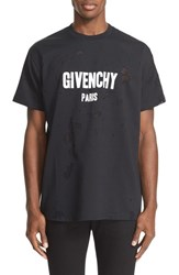 Givenchy Men's Burnout Logo T Shirt