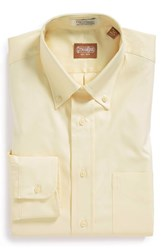 Gitman Brothers Vintage Men's Big And Tall Gitman Regular Fit Pinpoint Cotton Oxford Button Down Dress Shirt Banana