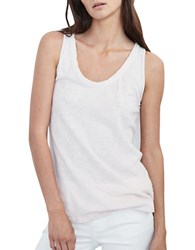 Velvet By Graham And Spencer Fitted Cotton Tank Top White