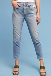 Anthropologie Amo Ace Mid Rise Relaxed Jeans Denim Light