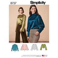 Simplicity Misses' Blouses Sewing Pattern 8737