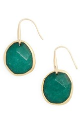 Nordstrom Women's Semiprecious Stone Drop Earrings Green Gold