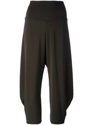 Issey Miyake Cropped Trousers Green