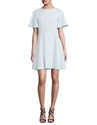 Shoshanna Solid Fit And Flare Crepe Dress Soft Mint
