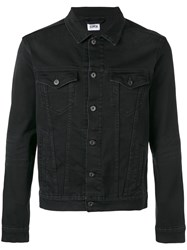 Edwin Denim Jacket Men Cotton Spandex Elastane Xl Black