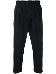 Low Brand Cropped Tapered Trousers Blue