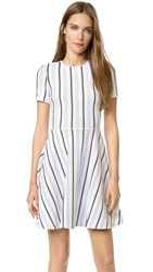 Opening Ceremony Striped Clos Dress White Multi