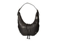 Frye Belle Bohemian Hobo Black Oiled Vintage Full Grain Hobo Handbags