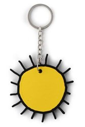 Christopher Kane Silver Tone And Silicon Keychain Yellow