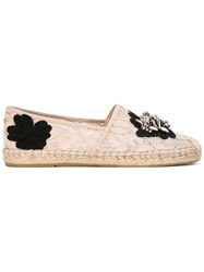 Ash 'Zaya' Espadrilles Women Leather Polyester Rubber 39 Nude Neutrals