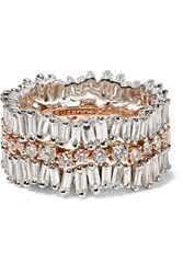 Suzanne Kalan 18 Karat White And Rose Gold Diamond Ring 7