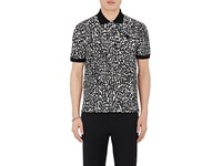 Alexander Mcqueen Men's Leopard Print Cotton Polo Shirt No Color