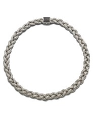 John Hardy Classic Chain Black Sapphire And Sterling Silver Small Braided Necklace