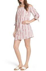 Everly Women's Everyly Tie Sleeve Off The Shoulder Shift Dress Rose Pink