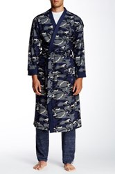 Majestic Long Sleeve Soft Full Length Robe Blue