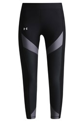Under Armour Tights Black Rhino Gray Metallic Silver