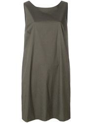 Antonelli Low Rounded Back Shift Dress Green