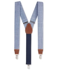Club Room Men's Blue Chambray Suspenders Only At Macy's