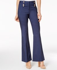 Xoxo Juniors' Button Trim Flare Leg Trousers Indigo